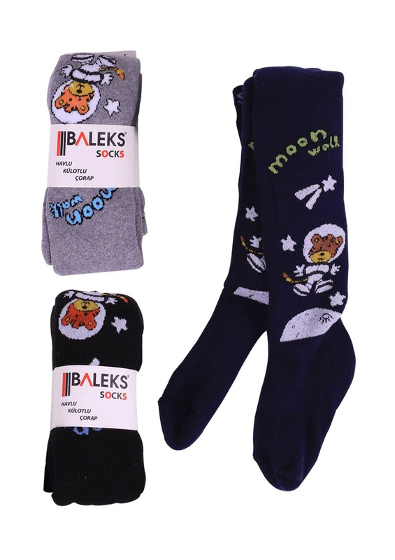 BALEKS - Baleks Havlu Külotlu Çorap | Gri