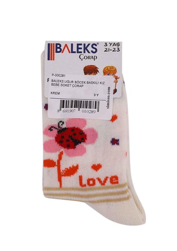 BALEKS - Baleks Soket Çorap 953 | Krem