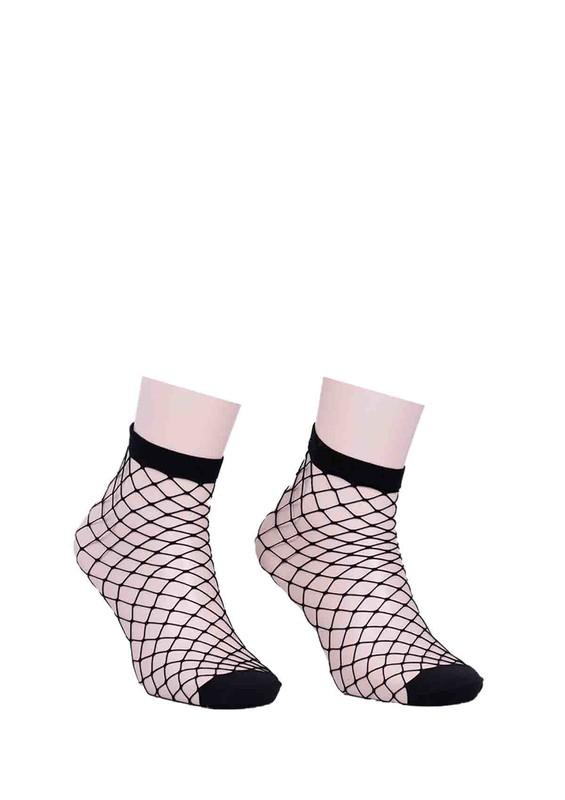 DESİMO - Desimo Geniş Fileli Soket Çorap 101 | Siyah