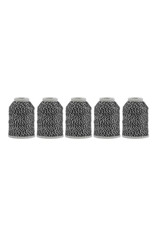 KAPLAN - Kaplan Nakış Simi 6 Kat 20 gr 5'li | Beyaz Siyah