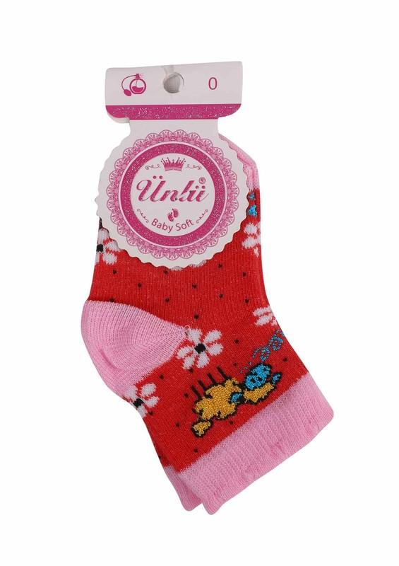 ÜNLÜ BABY - Ünlü Baby Soket Çorap 111 | Fuşya