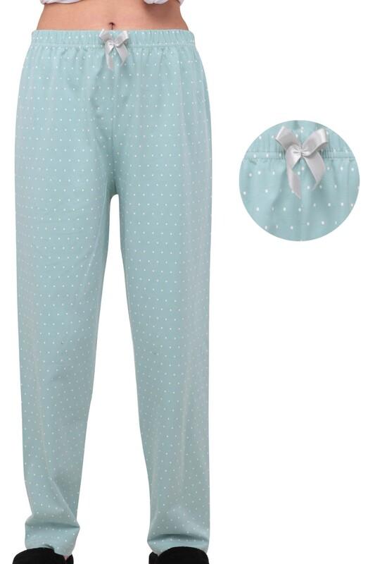 SİMİSSO - Benekli Kadın Pijama Altı | Yeşil