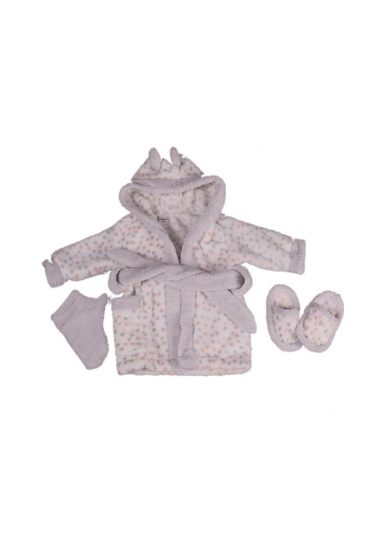 SİMİSSO - Simisso Baby Bebek Bornoz Takımı 11994   Gri