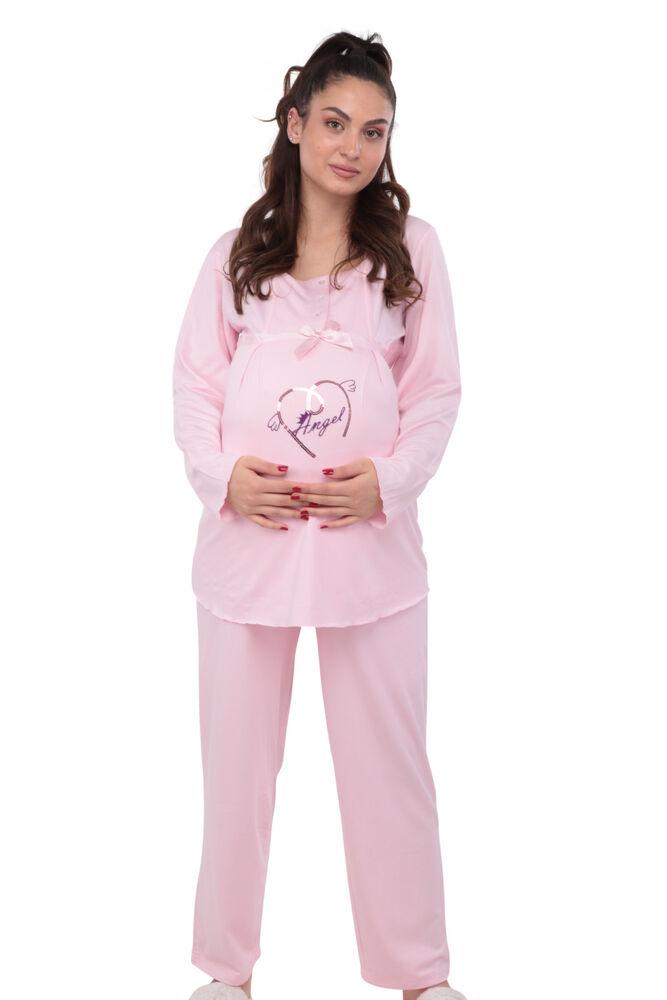 Berrak Kalpli Hamile Pijama Takımı 392 | Pembe
