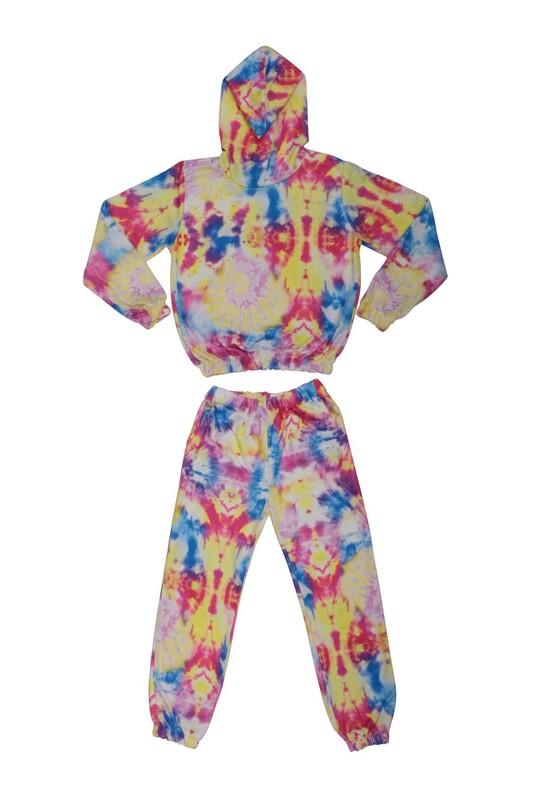 SİMİSSO - Fosforlu Kız Çocuk Eşofman Takım | Karışık Renk