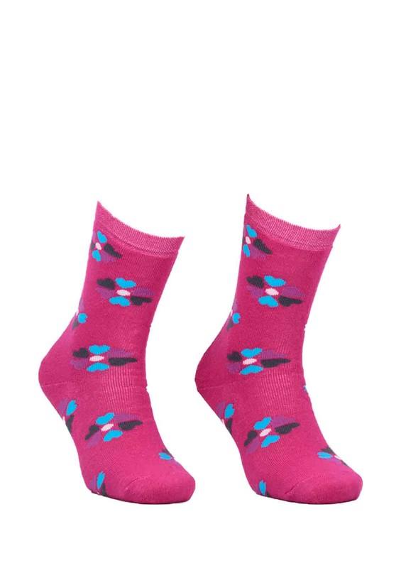 ADA - Ada Çiçekli Havlu Çorap 4203   Pembe