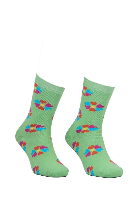 ADA - Ada Çiçekli Havlu Çorap 4203 | Yeşil