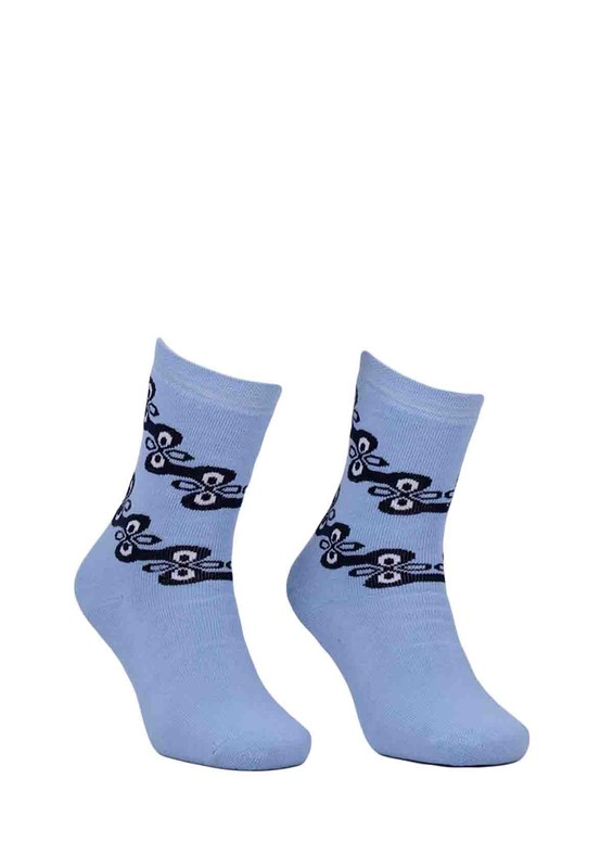 ADA - Ada Desenli Havlu Çorap 4199 | Mavi
