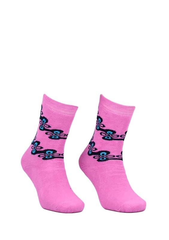 ADA - Ada Desenli Havlu Çorap 4199 | Pembe