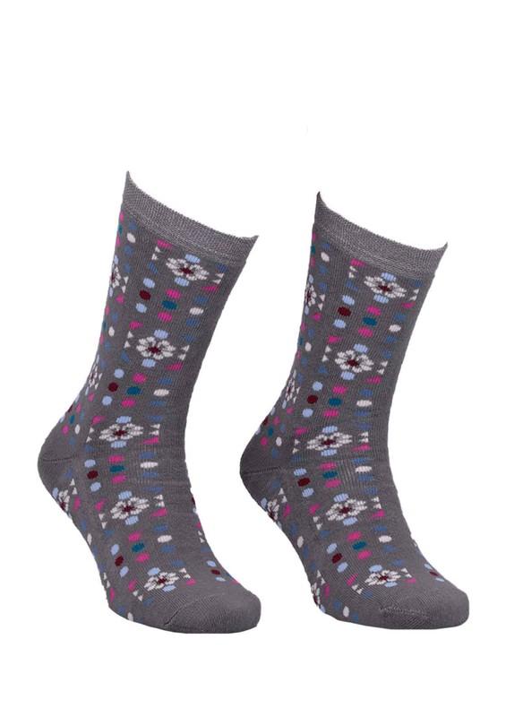 ADA - Ada Puantiyeli Desenli Havlu Çorap 4200 | Haki
