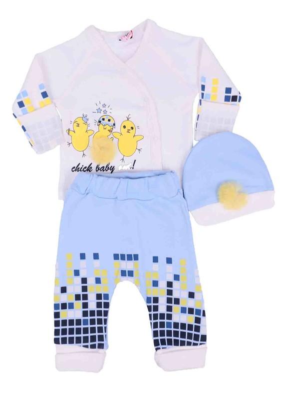 AGUCUKBABY - Agucuk Baby Zıbın Takımı 3 ' lü 20109 | Mavi