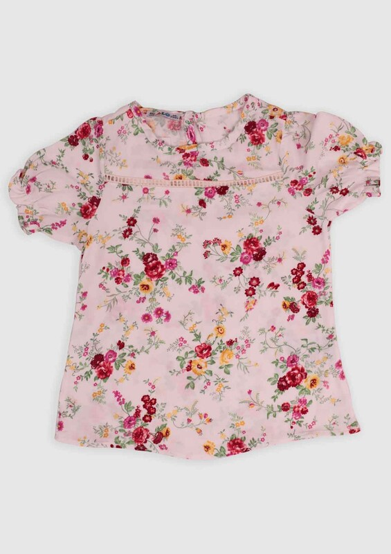 ALG - ALG Çiçek Baskılı Kız Çocuk Elbise | Kırmızı