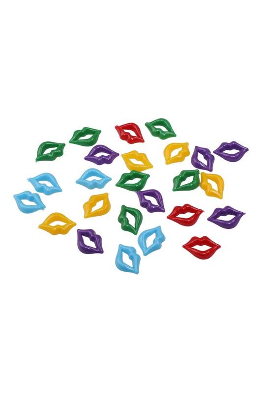 MİR PLASTİK - Amigurumi Dudak 2 cm 25 Adet | Karışık Renk