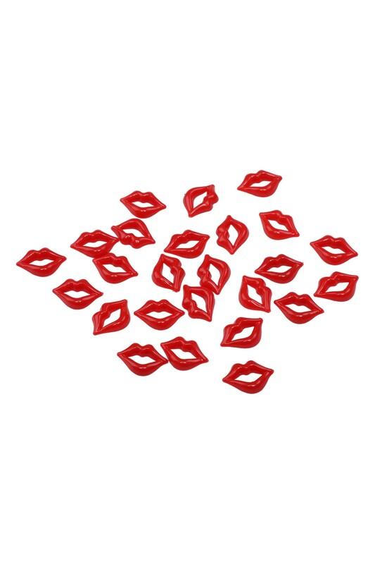 MİR PLASTİK - Amigurumi Dudak 2 cm 25 Adet | Kırmızı