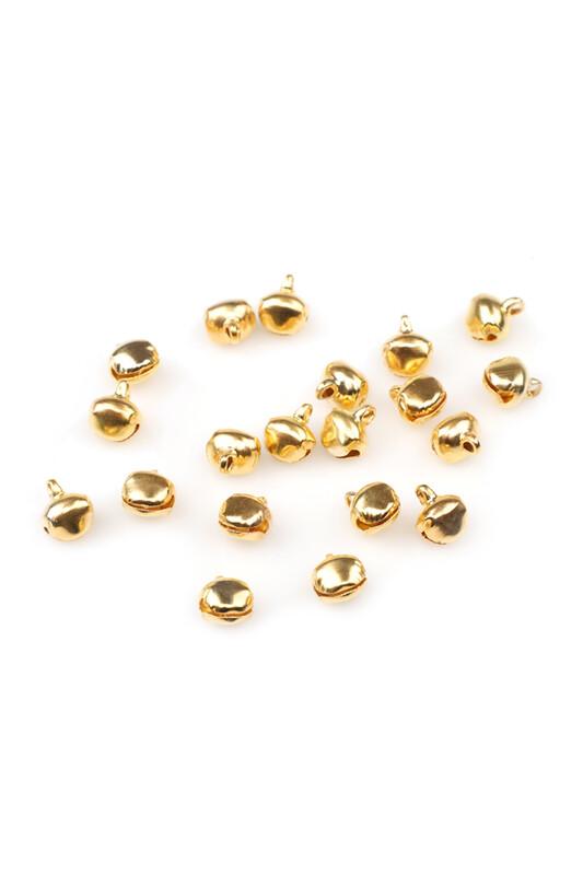 MİR PLASTİK - Amigurumi Zil Çan 10 mm 20 Adet | Altın