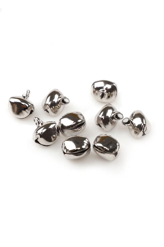 MİR PLASTİK - Amigurumi Zil Çan 14 mm 10 Adet | Gümüş