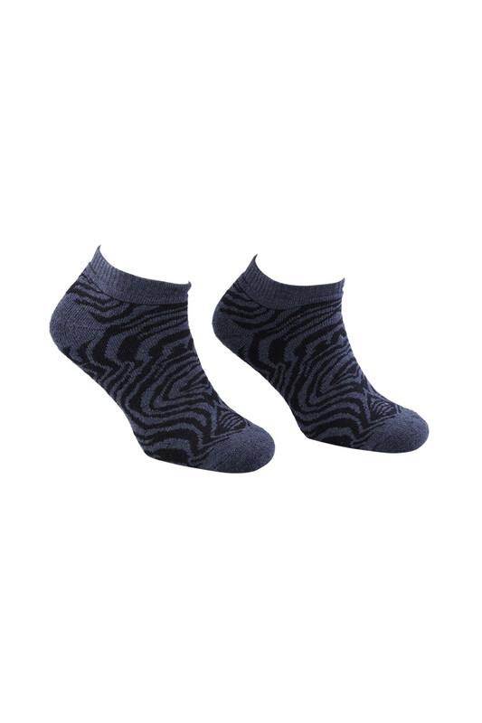 ARC - Arc Zebralı Havlu Patik Çorap   İndigo