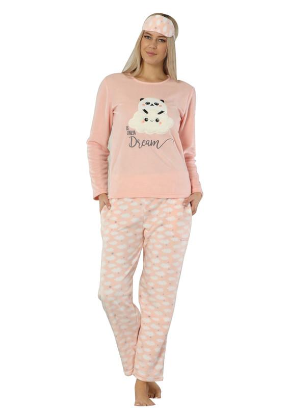 ARCAN - Arcan Panda Desenli Polar Pijama Takımı 2218 | Pembe