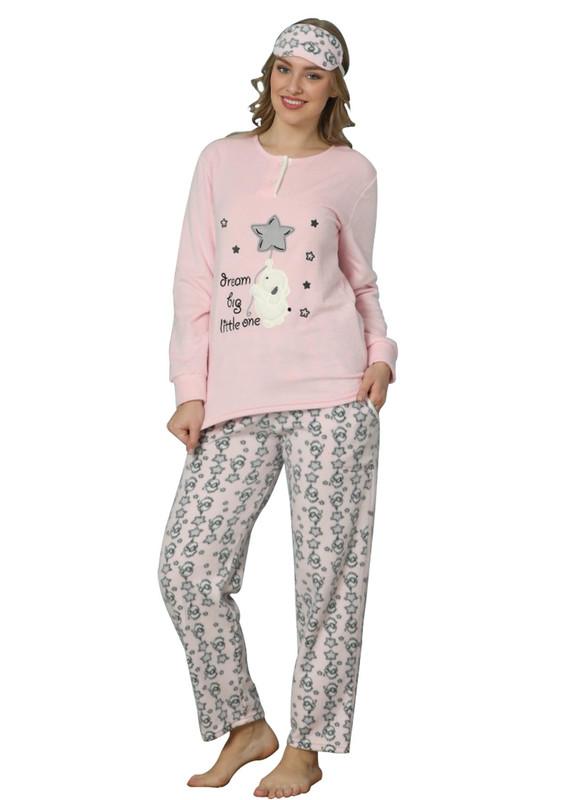 ARCAN - Arcan Yıldız Desenli Polar Pijama Takımı 2216   Mavi