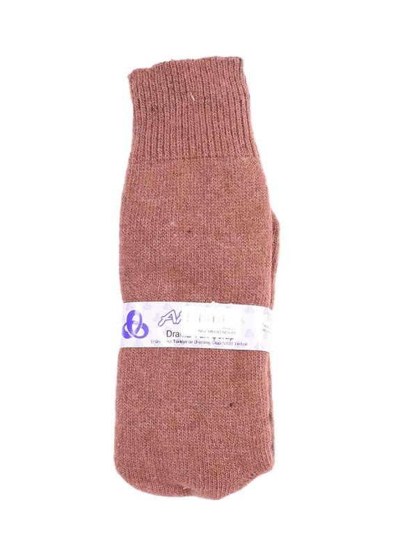 ARYÜN - Aryün Yün Çorap | Kahverengi