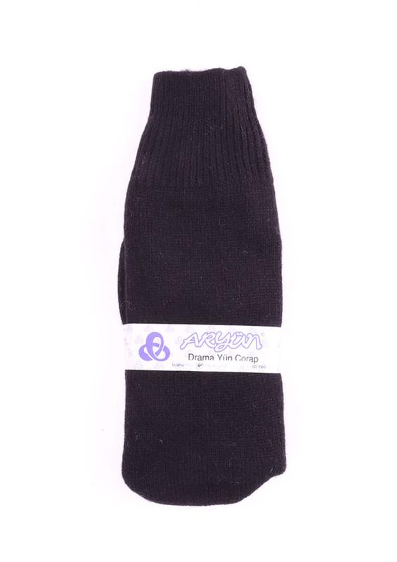 ARYÜN - Aryün Yün Çorap | Siyah