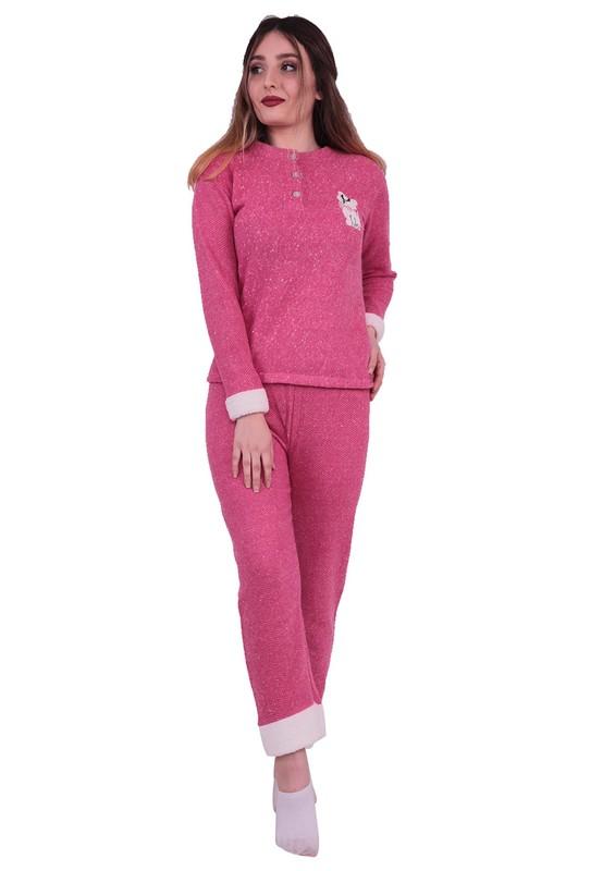 ASMA - Asma Kedi Nakışlı Polar Pijama Takımı 7786