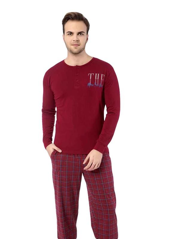AYDOĞAN - Aydoğan Erkek Uzun Kollu Modal Pijama Takımı 3884 | Bordo