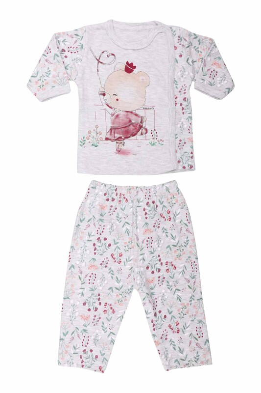 HOPPALA BABY - Ayıcık Desenli Zıbın Takımı 2064 | Gri