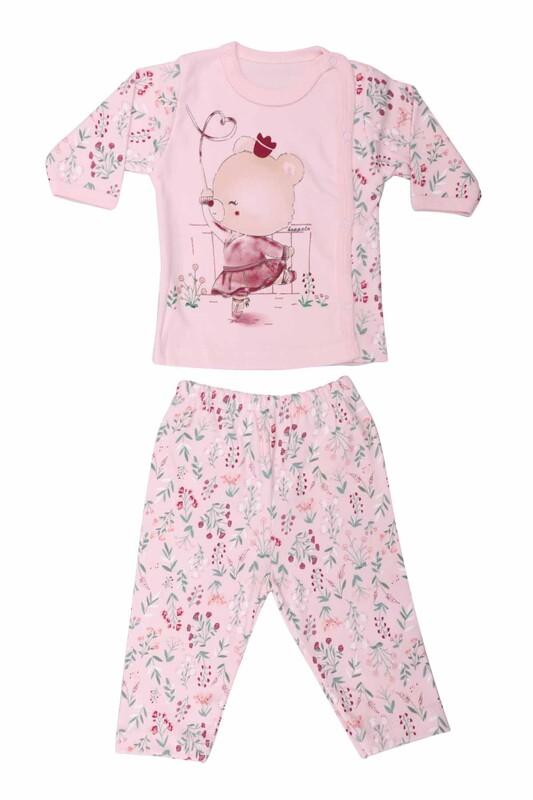 HOPPALA BABY - Ayıcık Desenli Zıbın Takımı 2064 | Pembe