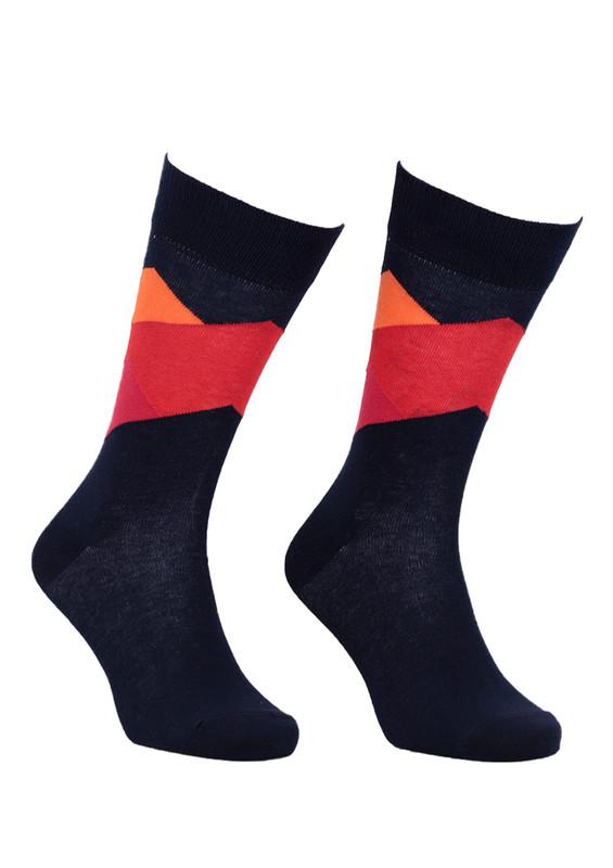 AYTUĞ - Aytuğ Desenli Erkek Çorap 2433 | Lacivert
