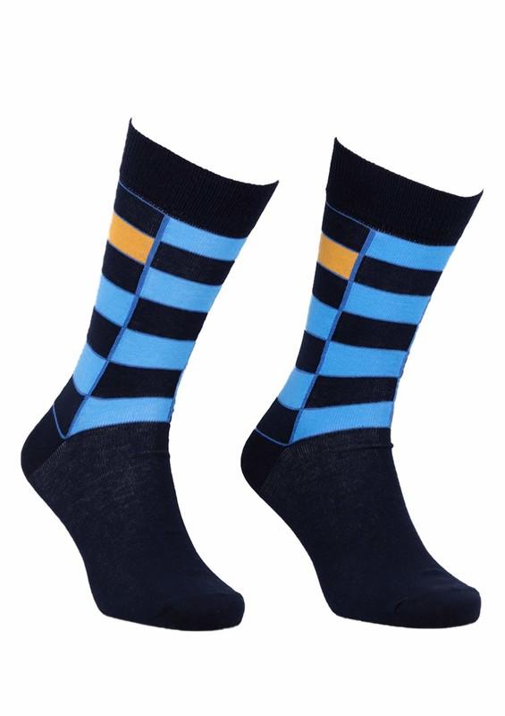 AYTUĞ - Aytuğ Kareli Erkek Çorap 2433 | Lacivert