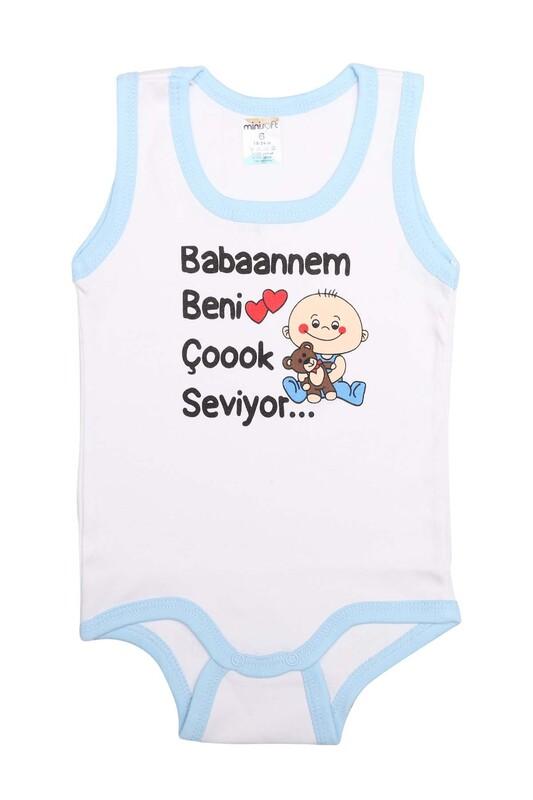 SİMİSSO - Babaannem Beni Çok Seviyor Bebek Zıbın   Mavi