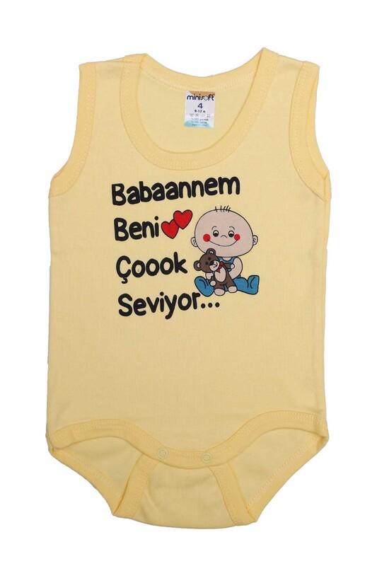 SİMİSSO - Babaannem Beni Çok Seviyor Bebek Zıbın   Sarı