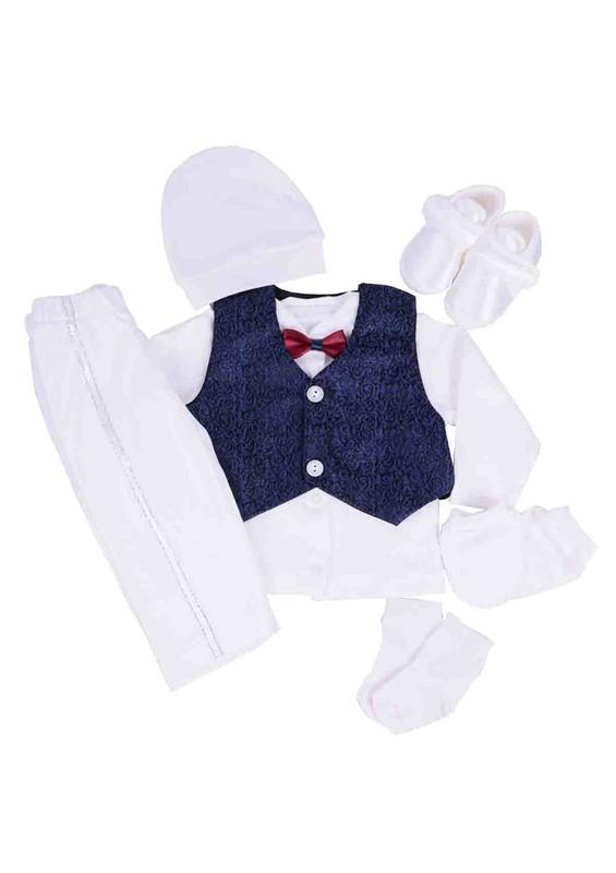 BABY TİNY - Baby Tiny Zıbın Seti 705 | Beyaz