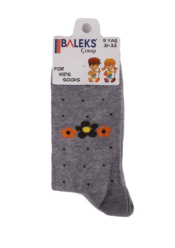 BALEKS - Baleks Soket Çorap 831   Gri