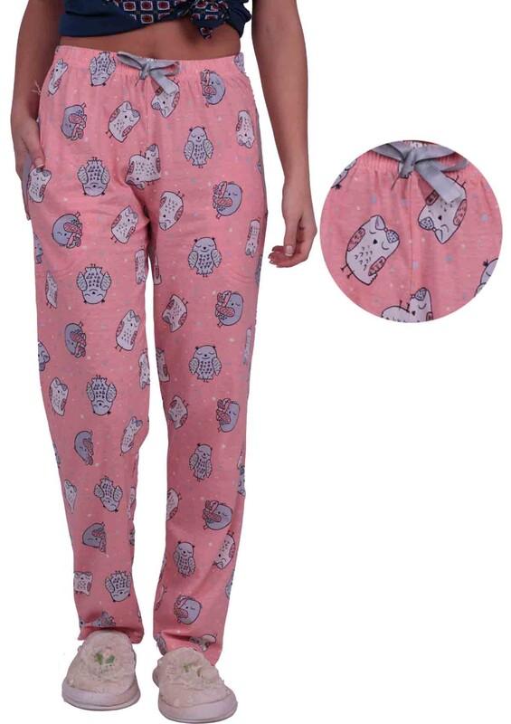 SİMİSSO - Baykuş Baskılı Kadın Pijama Altı | Yavru Ağzı
