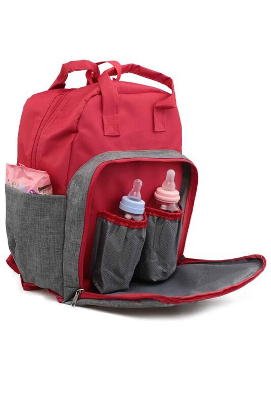 SİMİSSO - Anne Bebek Bakım Çantası 1032 | Kırmızı