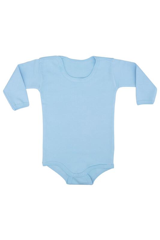 MİNİSOFT - Uzun Kollu Çıtçıtlı Bebek Penye Body | Mavi