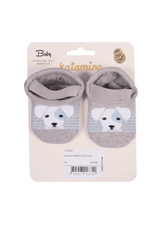 KATAMİNO - Katamino Havlu Patik Çorap 83020 | Gri