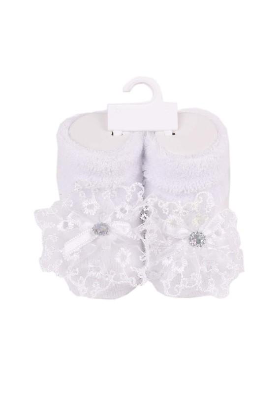 MİNİMİNNİX - Miniminnix Havlu Çorap 359 | Beyaz