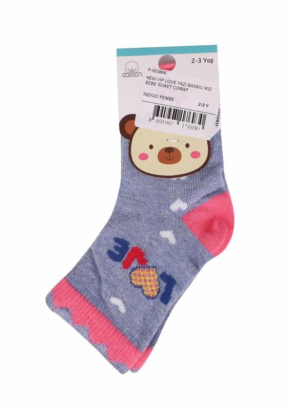 SİMİSSO - New Vip Soket Çorap 508 | İndigo