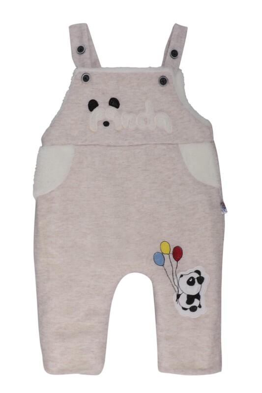 MİLLİON - Panda Nakışlı Bebek Tulum 2223 | Krem