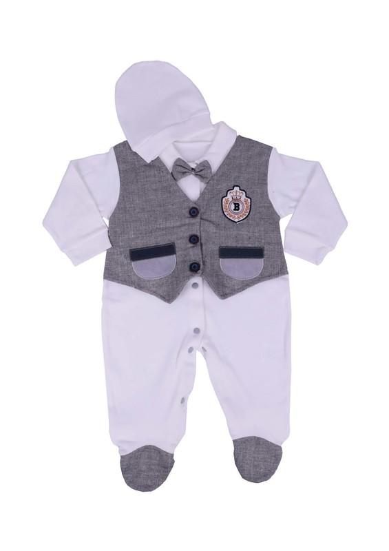 SİMİSSO - Simisso Yelekli Bebek Tulumu 1414   Beyaz