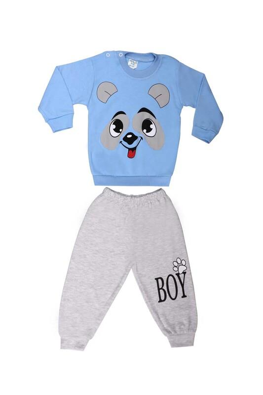 BİLKON - Bilkon Baby Köpek Baskılı Bebek Takımı 2808 | Bebe Mavi