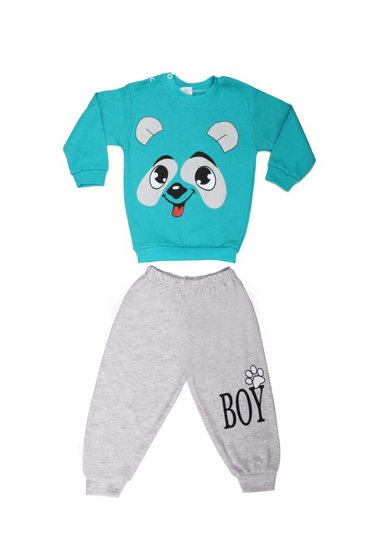BİLKON - Bilkon Baby Köpek Baskılı Bebek Takımı 2808   Yeşil