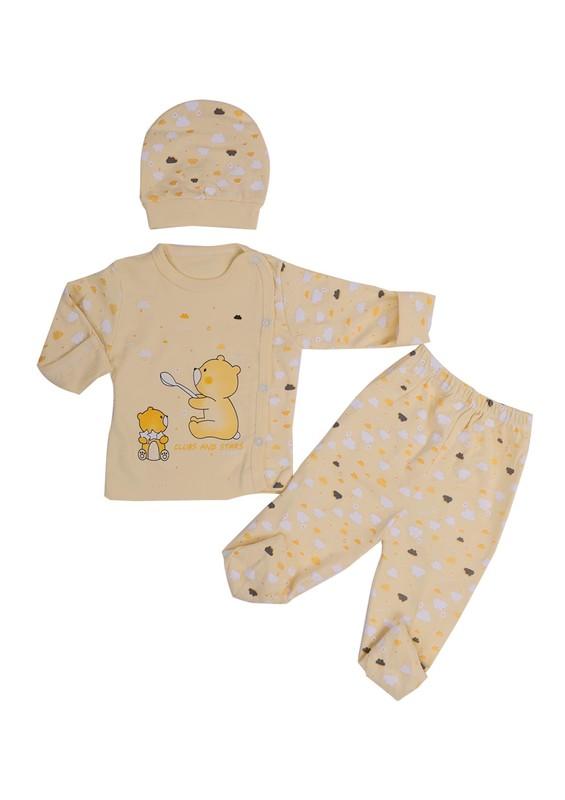 HOPPALA BABY - Hoppala Baby Bebek Takımı 8103 | Sarı