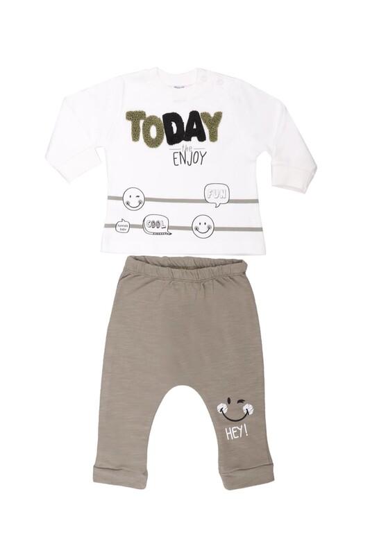 HOPPALA BABY - Hoppala Baby Today Erkek Bebek 2'li Takım 2269   Yeşil