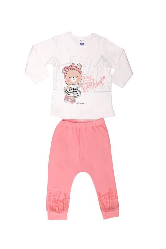 HOPPALA BABY - Hoppala Ayıcık Baskılı Bebek Takımı 2007 | Beyaz