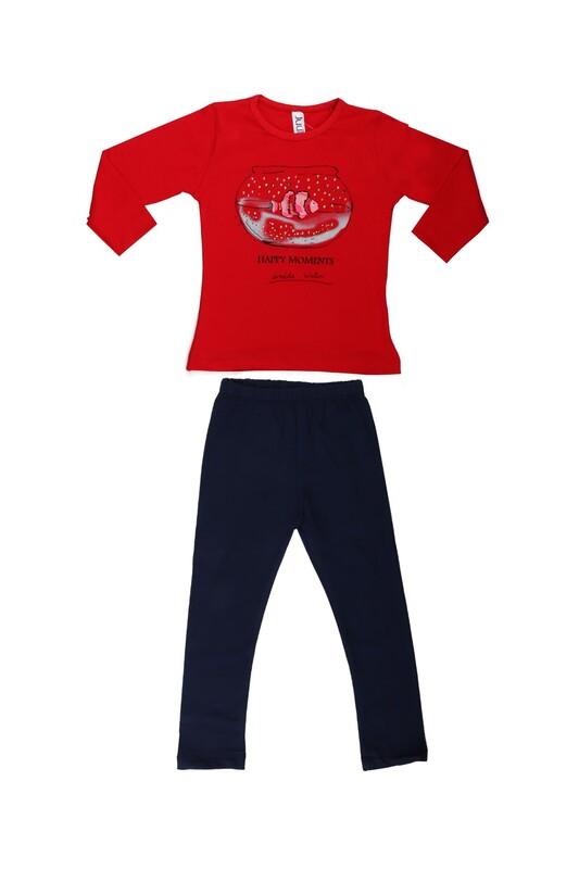Juuta - Juuta Balık Baskılı Takım   Kırmızı