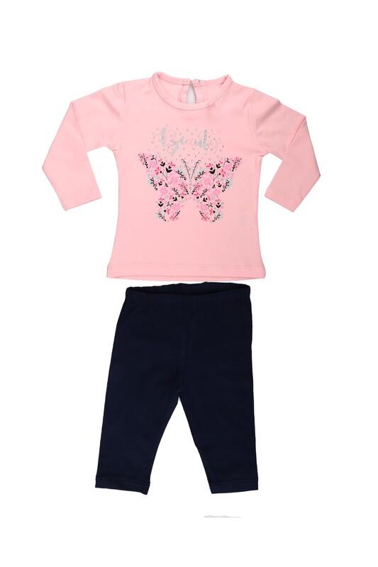 Juuta - Juuta Çiçek Baskılı Bebek Takımı   Bebe Pembe
